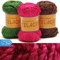 Linha Telacril acaba de chegar no www.armarinhosaojose.com.br! Fio em 100% polipropileno é ideal para chinelos, tapetes, sacolas e almofadas.  E o preço está incrível!  Conheça!  #armarinho #artemanual #artesanato #criatividade #croche #trico #lovecrochet #crocheteira #crochebrasil #saojosearmarinho