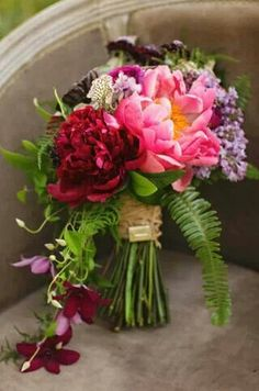 Gypsy floral and events, peony bouquet