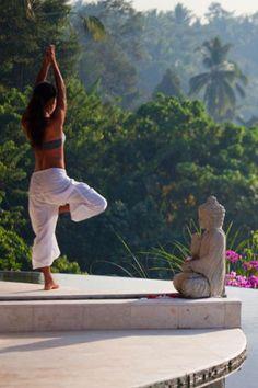 Relaxing Yoga at Lembah Spa Ubud ~ Bali.