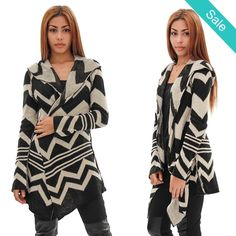 Unique Hoodie #Sweater with Pins Aztec-Black/White - On Sale for $55.00 (was $77.00)
