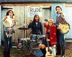 One of the first pictures of Paul McCartney and Wings, August 1971.