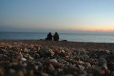 Brighton Beach at Sunset with someone who means a lot to me