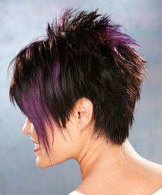short razor haircut back view