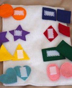 Teach shapes and colors with this neat game  http://thegardeningcook.com/teach-your-kids-colors-shapes-concepts/