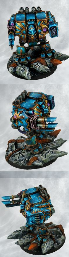 Warhammer 40k - Chaos Space Marines Thousand Sons Dreadnought, Forgeworld model