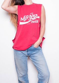 Coca Cola Shirt Red Muscle Tank Coke Muscle by theSIFTEDTHRIFT