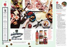 Bon Appétit Holiday Survival Guide (via The Rappaport Agency). Magazine Layout Design, Magazine Layouts, Editorial Layout, Editorial Design, Brochure Design, Brochure Layout, Corporate Brochure, Corporate Identity, Corporate Design