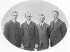 Pioneers: Founders of Harley-Davidson; William Davidson, Walter Davidson, Arthur Davidson and William Harley started 'a small motorcycle company' 97 years ago Harley Davidson Founders, Harley Davidson History, Harley Davidson Merchandise, Motos Harley Davidson, Harley Panhead, Harley Bikes, William Harley, La Perla Lingerie