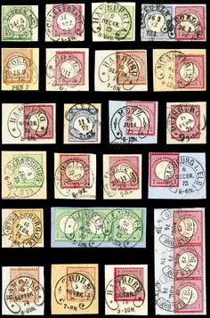 Shields - lovely collection beautiful Bfstkn., all with clearly horseshoe cancel cancelled. Each piece is expertized and signed Spalink BPP. An extraordinary collection, which with high capital expenditure single over auctions compiled was.  Dealer Württembergisches Auktionshaus  Auction Minimum Bid: 1750.00EUR