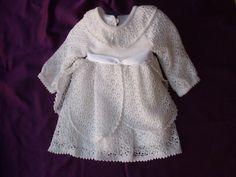 vestito bianco traforato bimba, by maglieria magica, 68,00€ su misshobby.com