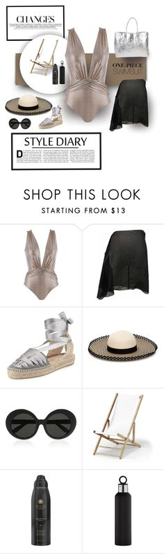 """""""Shiny Object"""" by michelletheaflack ❤ liked on Polyvore featuring Oye Swimwear, Castañer, Eugenia Kim, Linda Farrow, Telescope Casual, Soleil Toujours, blomus, Armitage Avenue, onepieceswimsuit and polyvorecontests"""