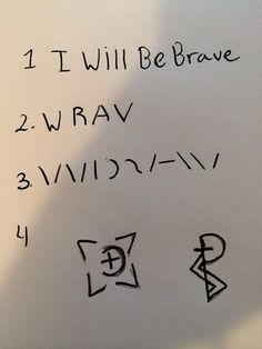 Creating a sigil   A sigil magick is a symbol that you creat that carries your will. For example in this tutorial the sigil will bring brave...
