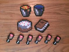 Minecraft Perler Sprites by NIBS-pwns-you on deviantART Hama Beads Minecraft, Perler Beads, Minecraft Pattern, Minecraft Crafts, Perler Bead Art, Fuse Beads, Bunny Drawing, Hama Beads Design, Pixel Art