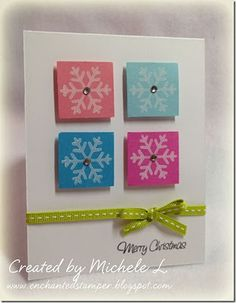 Easy and colorful Christmas card
