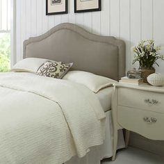 Reese Full/Queen Upholstered Headboard - Seagull Grey 289 costco quality