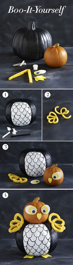 Boo-it-yourself pumpkin decorating- I would do all black and white