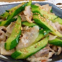 ✜豚肉ときゅうりの中華炒め✜ by rie-tin Pork Recipes, Lunch Recipes, Asian Recipes, Healthy Recipes, Easy Cooking, Cooking Recipes, Cafe Food, Pork Dishes, Cooking Instructions