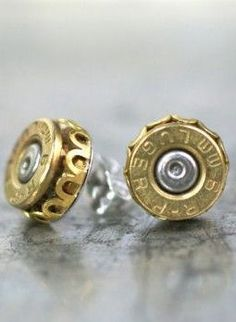 ***hahaha that's pretty interesting dont think i could pull it off might look too much like gauges   Bullet Stud Earrings
