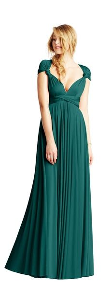 Versatile dress can be worn 15 different ways, love the emerald colour