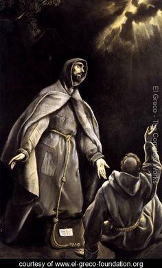 St Francis's Vision of the Flaming Torch 1600-05 - El Greco (Domenikos Theotokopoulos) - www.el-greco-foundation.org