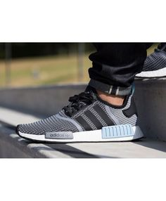 Adidas Nmd Runner Grey Blue Black trainers for cheap Bordeaux, Cheap Adidas Nmd, Shoe Sale, Blue Grey, Trainers, Adidas Sneakers, Shoes, Black, Style