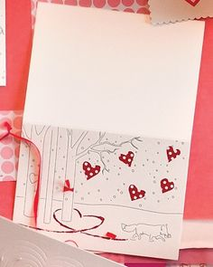 Clip art and templates for Valentine's Day from Martha Stewart.Paw Prints in the Snow Clip Art My Funny Valentine, Valentines Day Party, Valentine Day Crafts, Vintage Valentines, Valentine Ideas, Valentine Stuff, Homemade Valentines, Martha Stewart, Romantic Cards