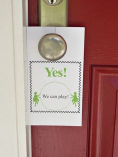 We can/can't play sign for the kids.  Making one of these for the summer