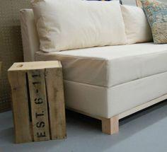 Sofa cama con espacio de guardado