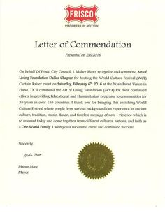 Mayor Of The City Frisco Texas H Ble Maher Maso Recognizes