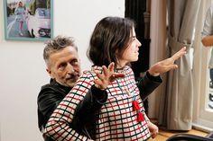 "Leandra Medine and @barneysny Simon Doonan as ""Stunt Hands,"" helping with @narscosmetics application Adventures in Beauty Vlogging   Man Repeller"