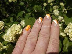 Crimsonheart Nails: Tangerine Burst Manicure