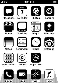 80s iPhone button layout