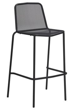 Otto Bar Chair - Online Only - Black - Matt Blatt Outdoor Bar Stools, Bar Chairs, Rattan, Wicker, Luxury Furniture, Surface Design, Upholstery, Steel