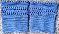Ravelry: MK Pointelle Boot Cuffs pattern by L. Daniels