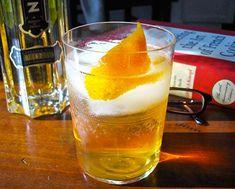 Traditional Elder-Fashioned Cocktail....St. Germain Elderflower Liqueur, Bourbon, bitters, orange peel as garnish