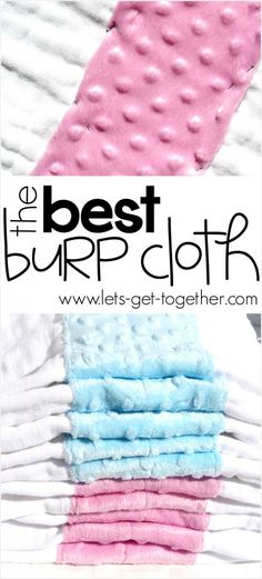 DIY: The Best Burp Cloth from Let's Get Together - why it's awesome and how to make it! #baby #gift