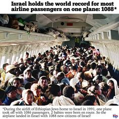 "24 years ago today, Israel carried out ""Operation Solomon"" to rescue the endangered Ethiopian Jewish community. Israel brought home over 14,000 Ethiopian Jews – and a world record! Source: The Israel Project"