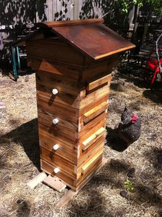 Warré Beehive made with Reclaimed Lumber. $300.00, via Etsy.