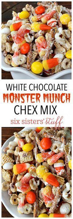 ... Munch on Pinterest   Halloween Popcorn, Pumpkins and Halloween Bark