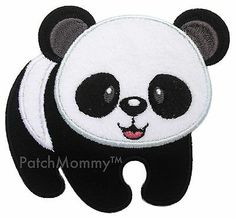 Panda Iron-On Applique Patch Kids/Baby/Animals/Forest/Bear-PatchMommy