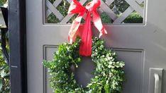 Boxwood Wreath Christmas Wreath Fresh Boxwood Wreath Holiday Decor Christmas Gift Natural Wreath Home Decor by donnahubbard on Etsy Twig Wreath, Boxwood Wreath, Floral Wreath, Moss Wreath, Wreath Fall, Large Christmas Wreath, Holiday Wreaths, Christmas Decorations, Fresh Wreath