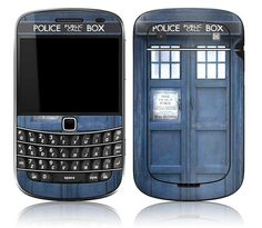 Blackberry Skin Cover Tardis Doctor Who Police by stickitskins.