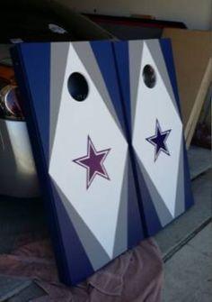 Dallas Cowboys Cornhole Boards www.customtailgaters.com
