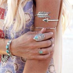 Bras catégorie Bracelet en argent sterling massif 925, tribal inspiré, bracelet de Bohème de bracelet, Arrow, manchette, personnalisé, gravu