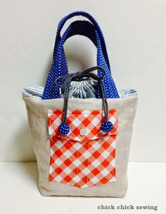 chick chick sewing: Zakka inspired Linen Bento Lunch Bag or Camera bag? リネンのお弁当バッグ?またはカメラバッグ?完成しました