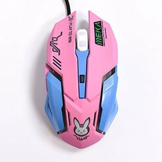 FarCry 5 Gamer #Gaming #Mouse, #Backlit #Optical #Game #Mice #Ergonomic #USB #Wired with 2400 #DPI and 6 #Buttons 4 #Shooting for #Pro #Game #PC #Computer #Laptop #Desktop #Mac (D.VA) (Pink) Price: Take control of the #game with D.VA character design, which is designed for comfort and natural fit your hand. This is the best #mouse available with the price, features and aesthetic appeal! It Is What You Are Looking For! Features1.Buttons:62.Tracking systems: Optical3.The