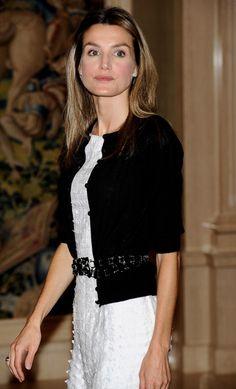 Princess Letizia in a chanel-inspired ensemble. Simplistically chic.
