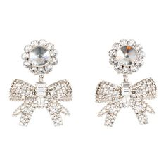 Miu Miu Dangle earrings with Swarovski(C) crystals and pearls