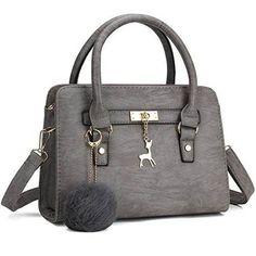 Bagerly Women Fashion PU Leather Shoulder Bags Top-Handle Handbag Tote Bag  Purse Crossbody Bag f79b9b5e143ea