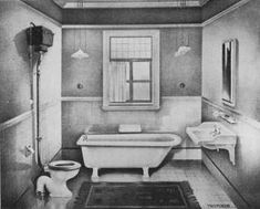 edwardian bathroom | example of bathroom from Twyfords, 1911